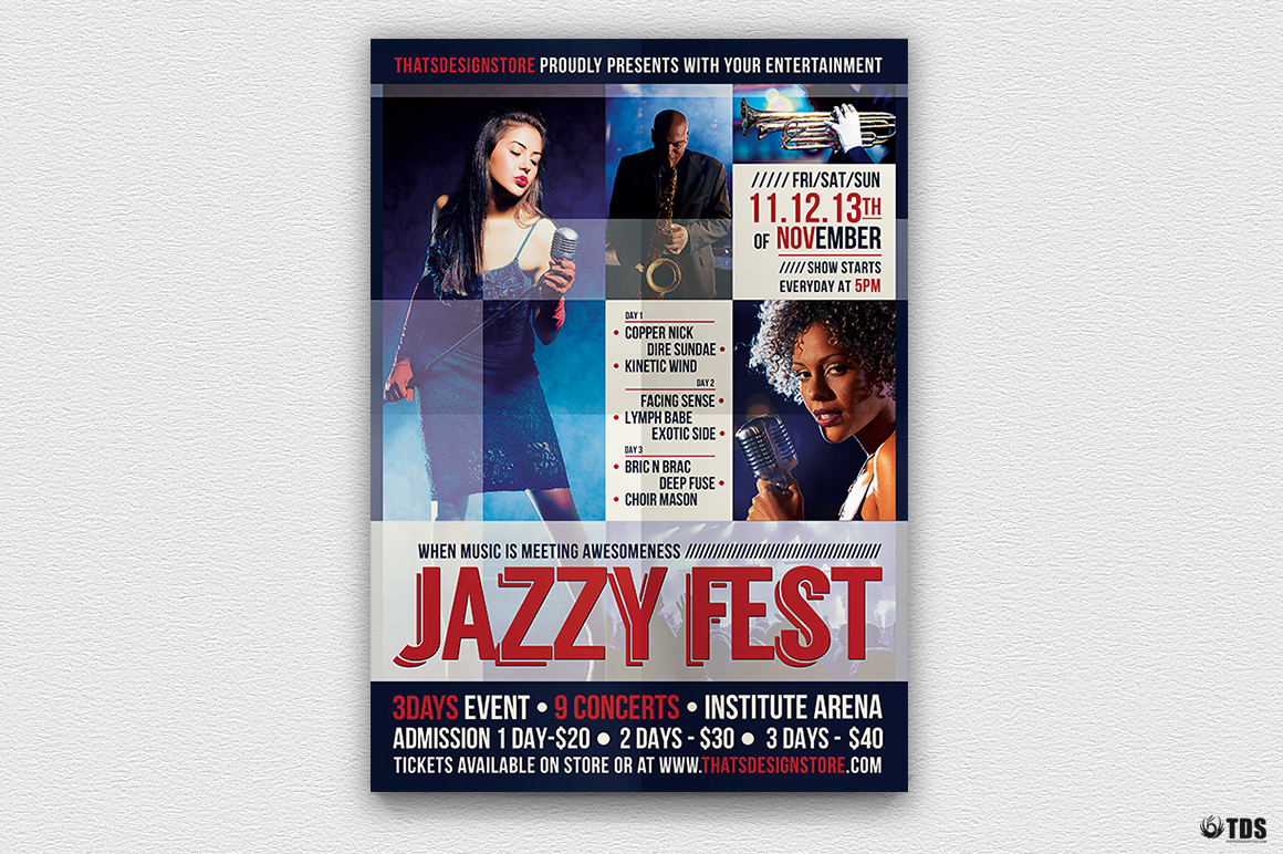 Jazzy Fest Flyer Template V1 example image 2