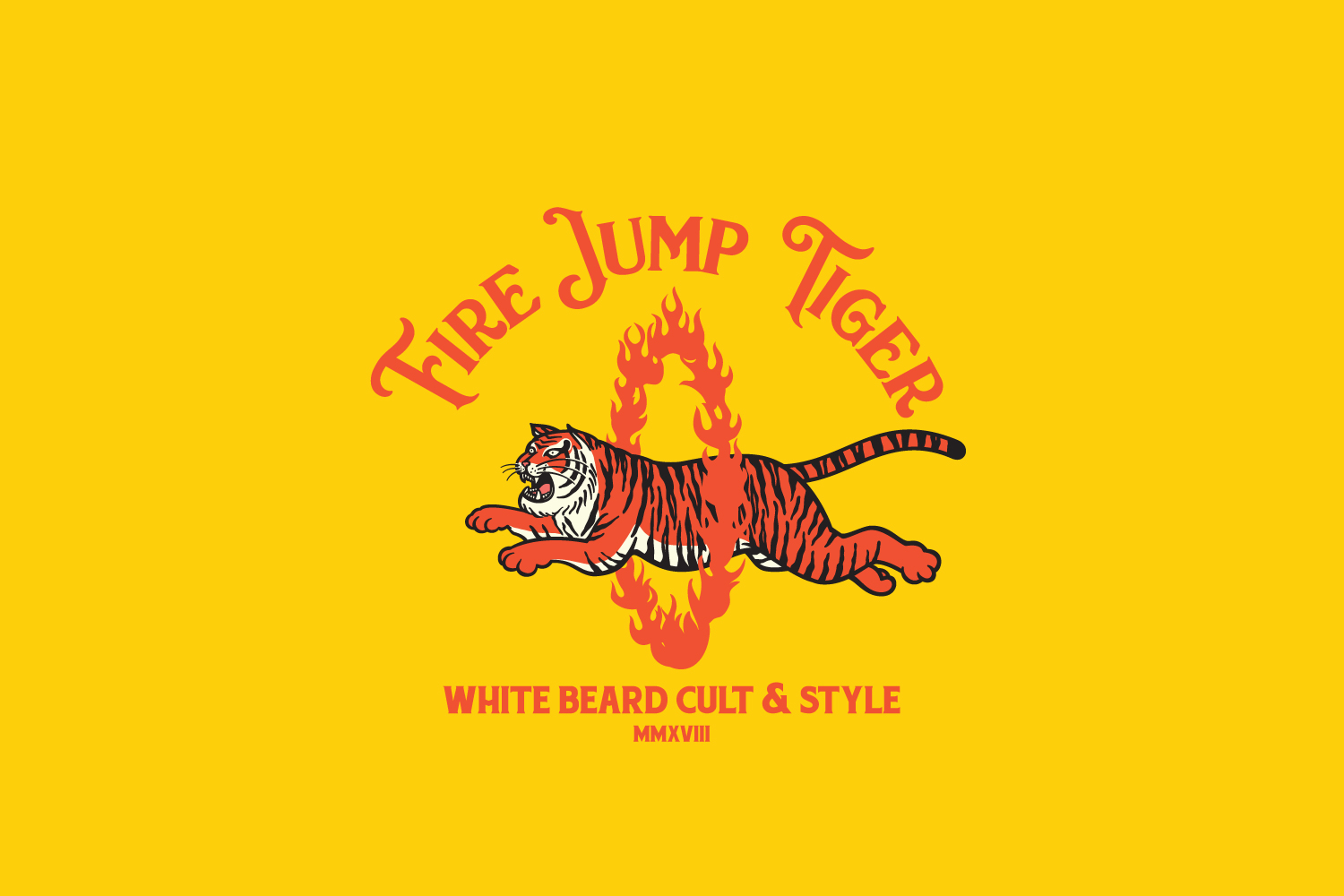 Fire Jump Tiger Logo Template example image 6