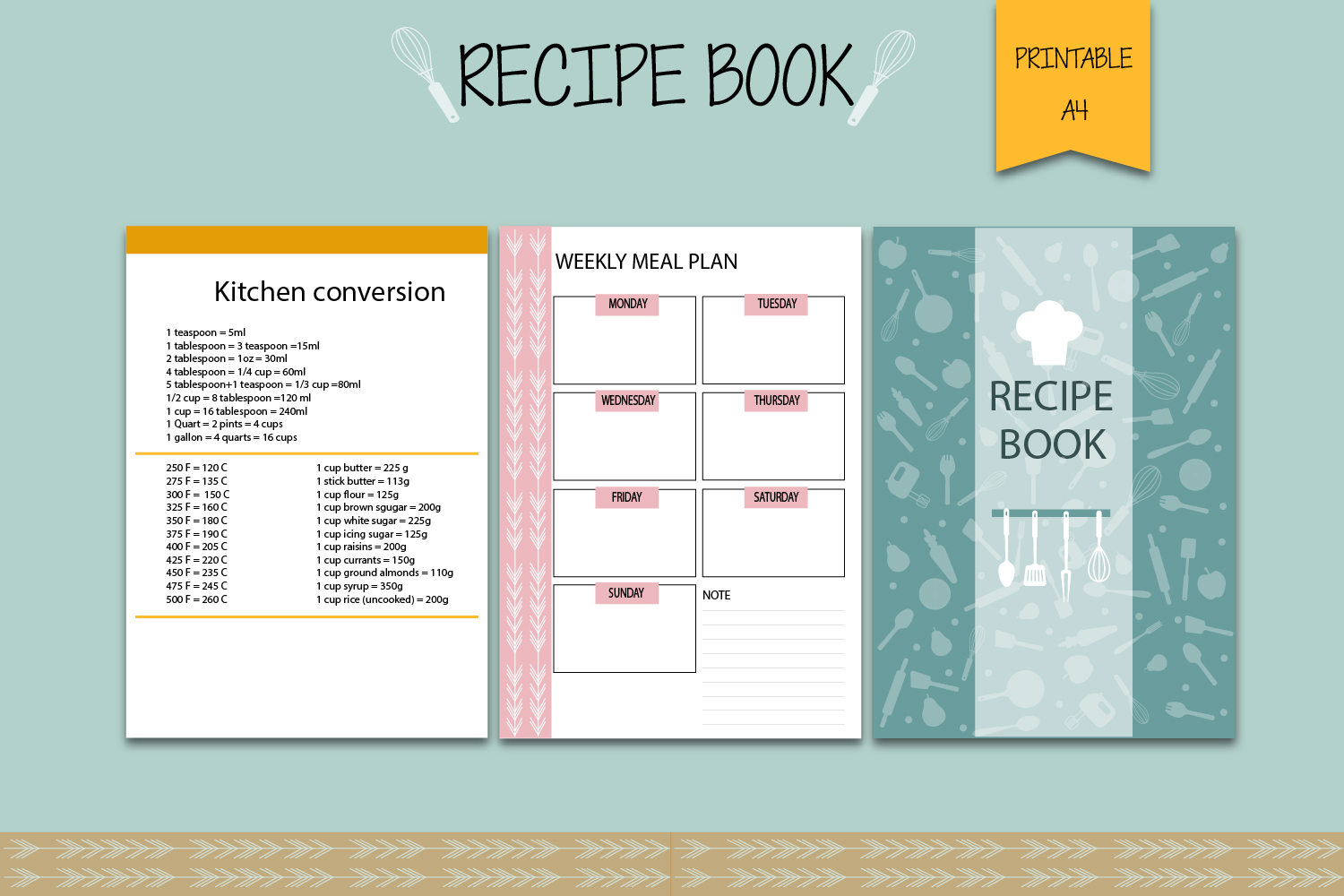 Recipe binder, Recipe book, Printable planner example image 4