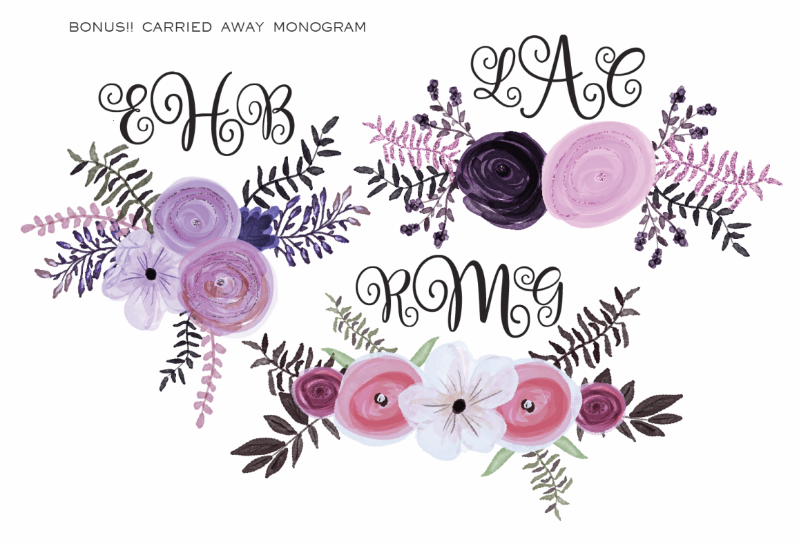 Carried Away  Monogram example image 4