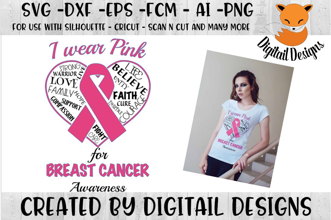 Breast Cancer Awareness SVG for Silhouette, Cricut example image 1