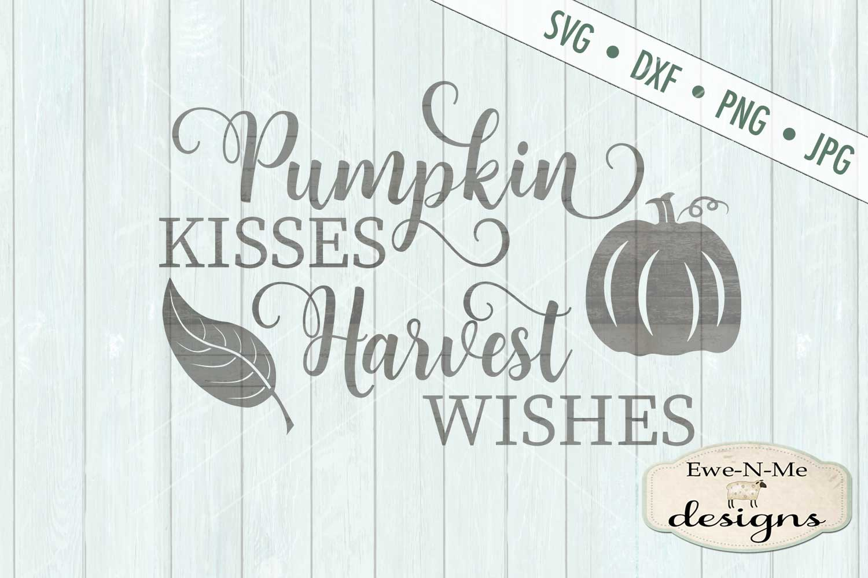 Pumpkin Kisses Harvest Wishes Leaves Pumpkin SVG DXF Files example image 2