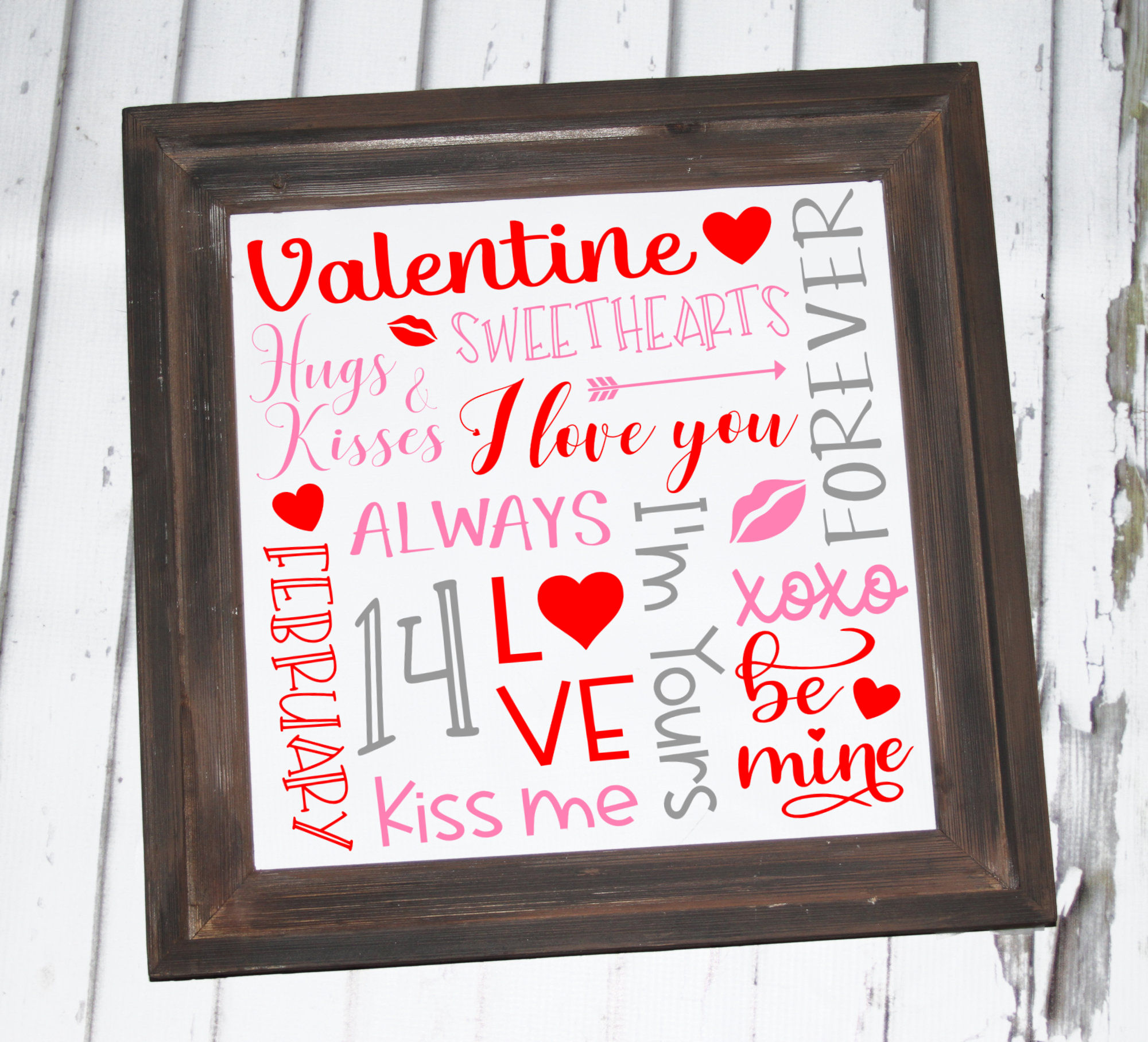 Valentine Subway Art SVG - Valentine SVG example image 2