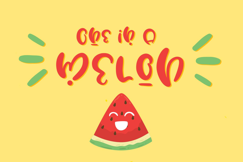 Water Lemon cute font example image 3