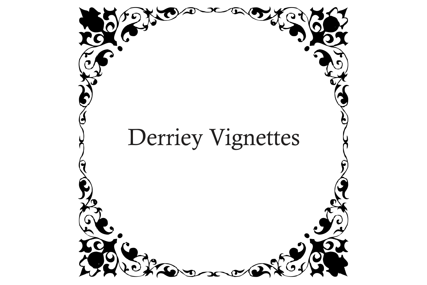 Derriey Vignettes Family Pack (5 fonts) example image 9