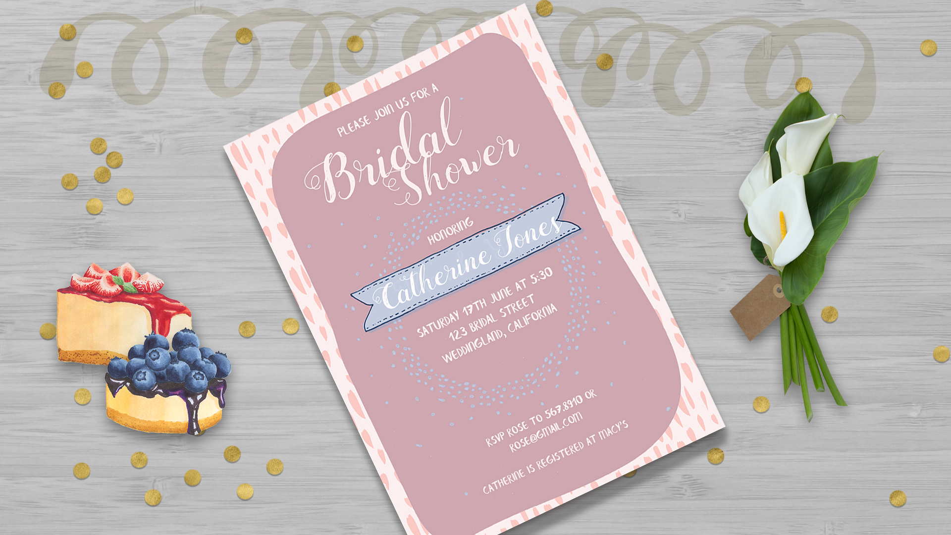 Bridal Shower Point Invitation Card Template example image 2