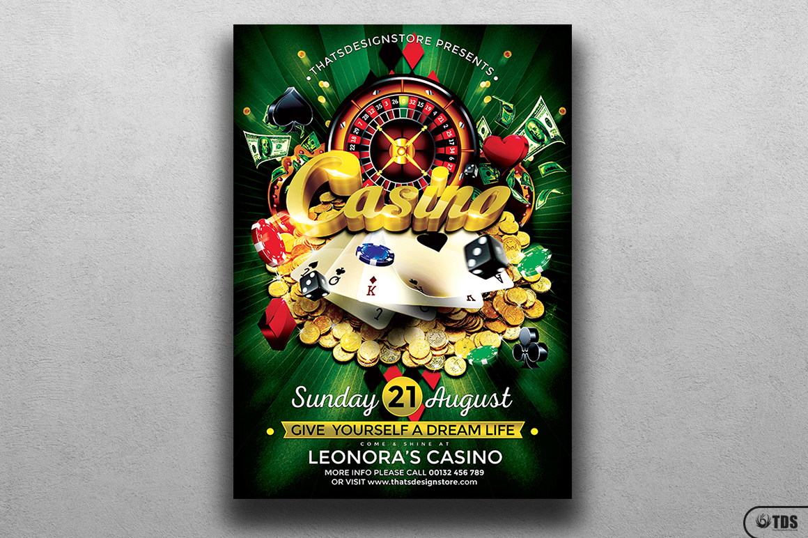 Casino Flyer Template V1 example image 1