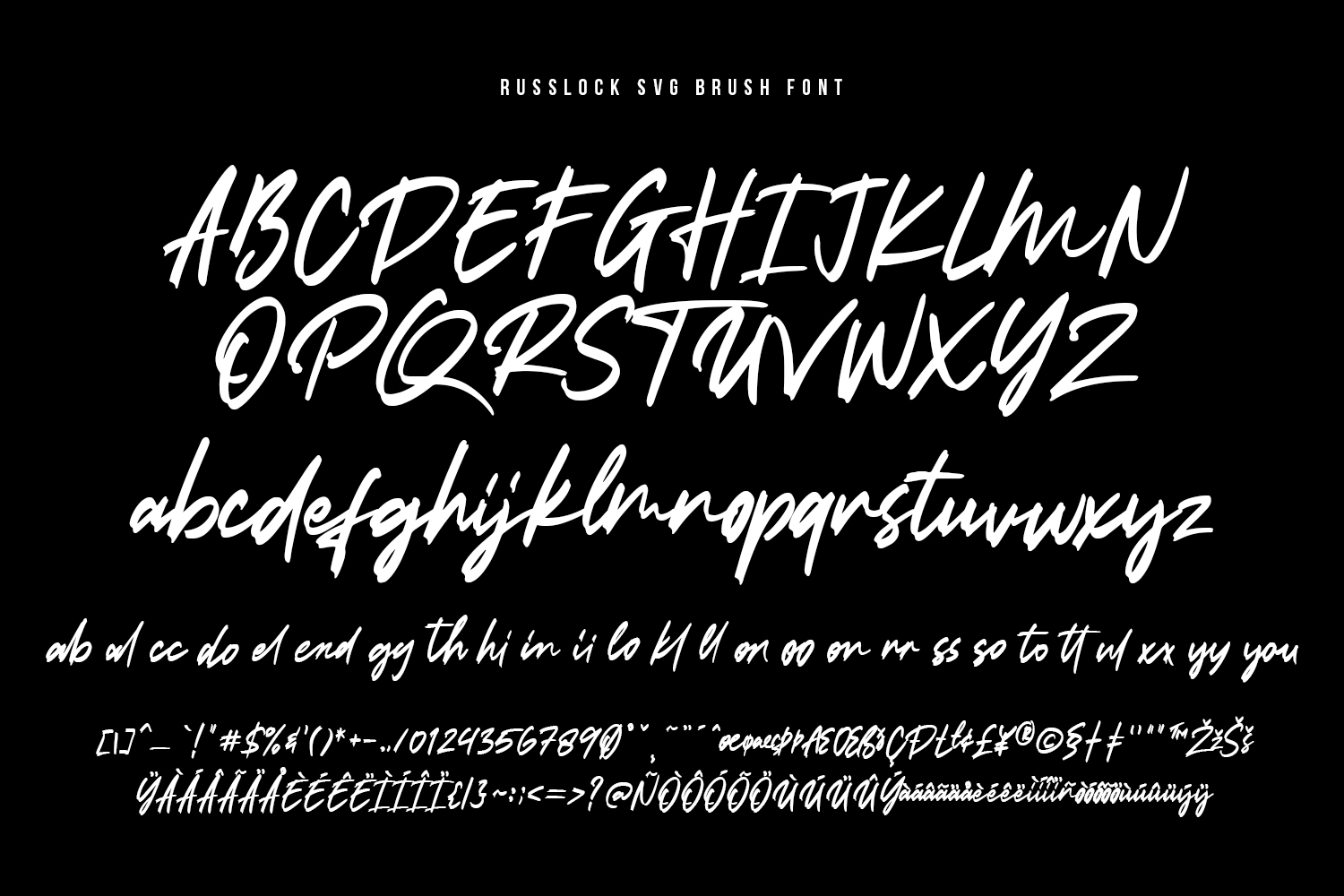 Russlock SVG Brush Font example image 13