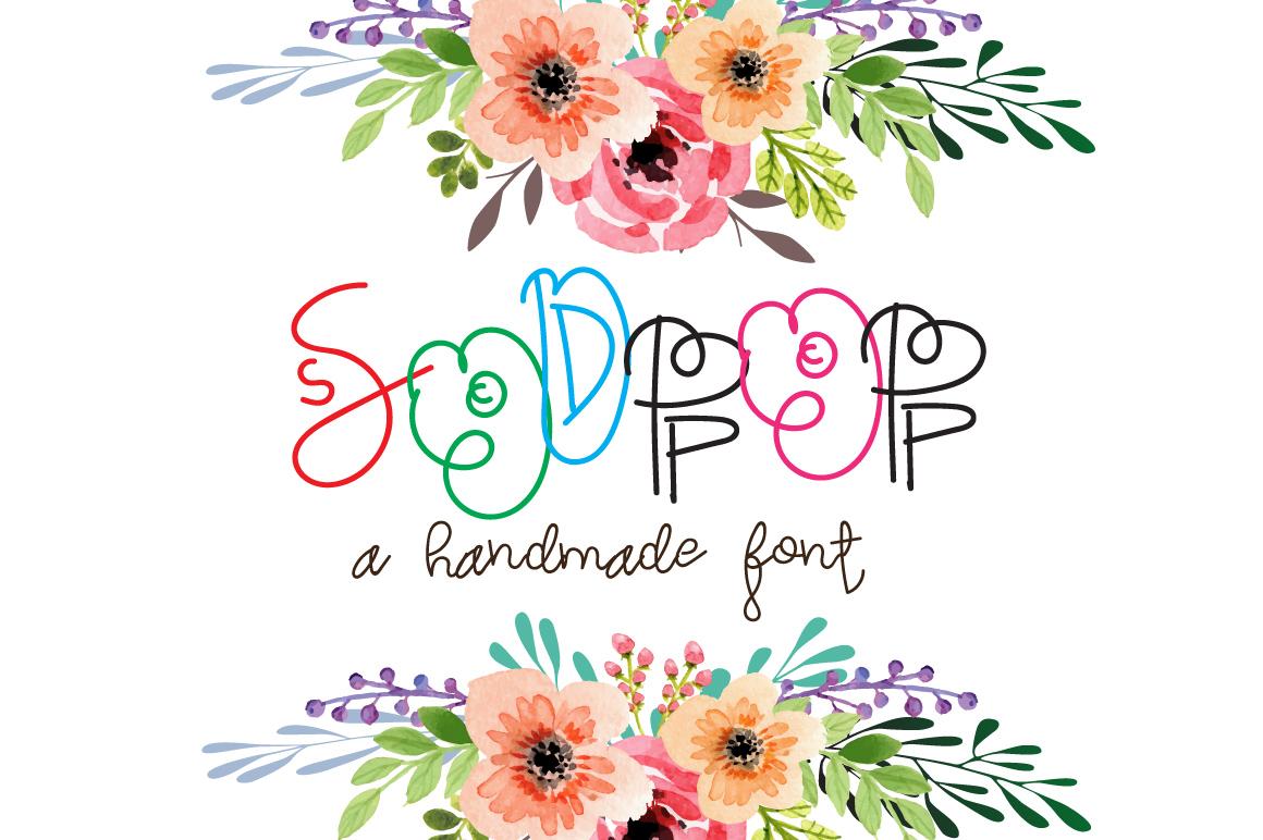 Sodpop - A decorative font example image 1