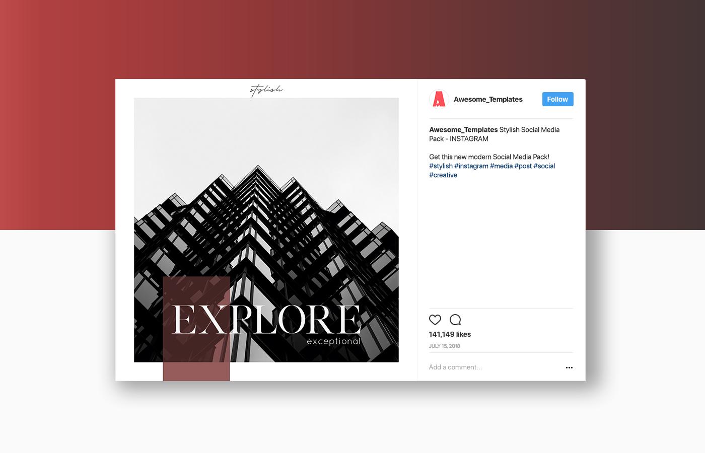 Stylish Social Media Pack - Instagram example image 6