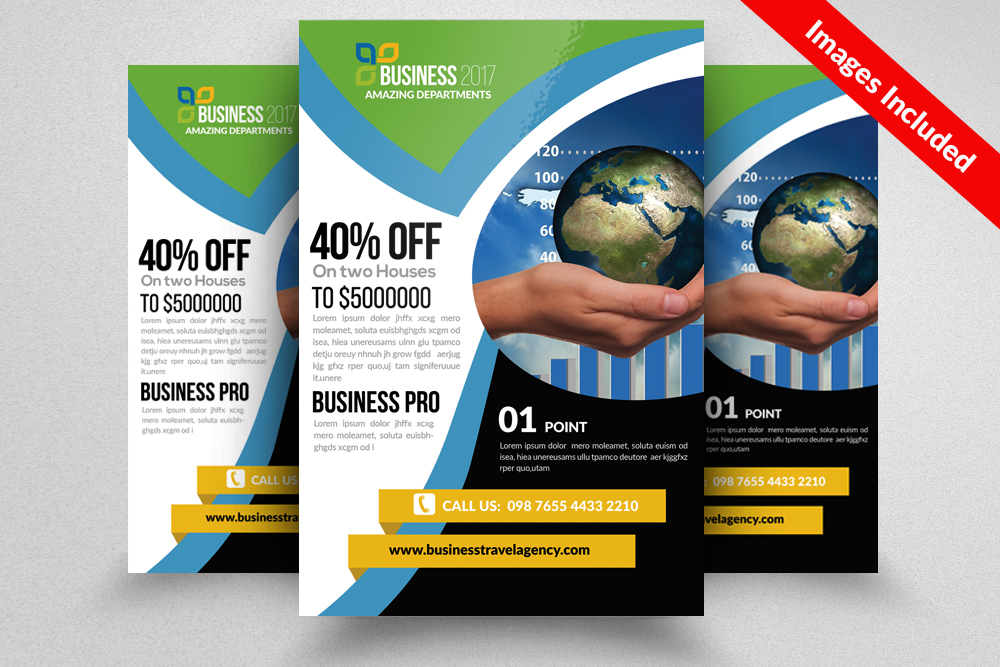 Global Business Flyer Template example image 1