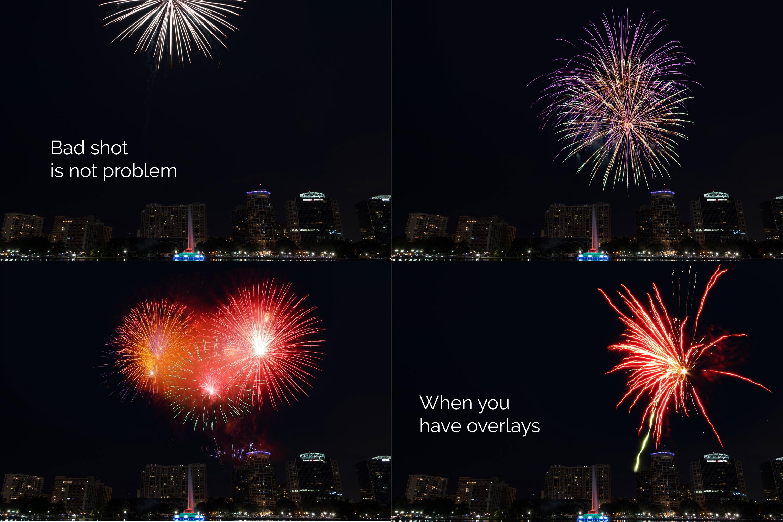 21 Firework Photo Overlays example image 3