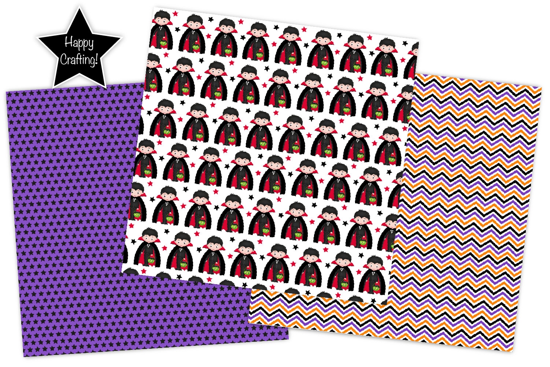 Halloween digital papers, Halloween patterns, scrapbooking example image 5