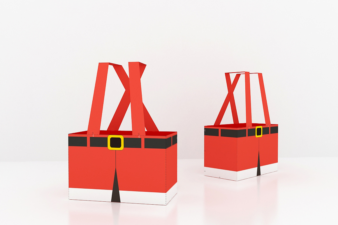 DIY Santa Pants Favor - 3d papercraft example image 3