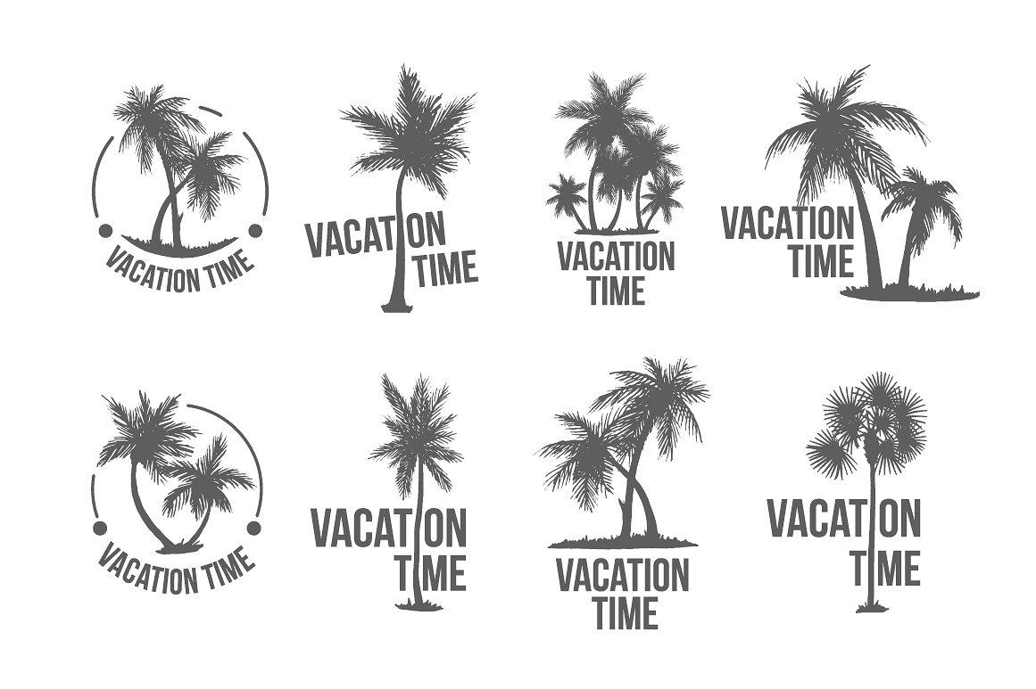 8 Tropical Palm logo illustration example image 1