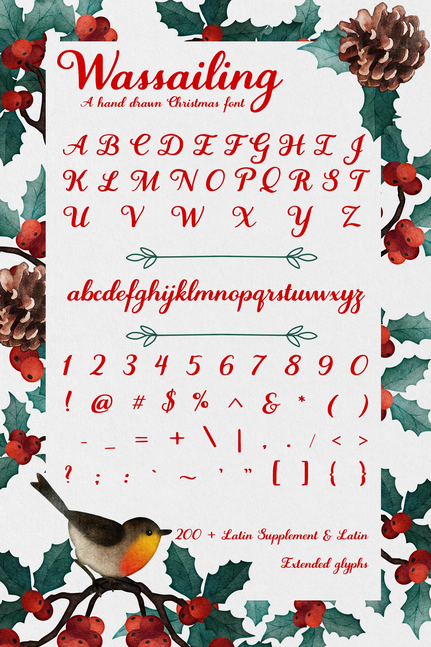 Wassailing - A handwritten script font example image 10