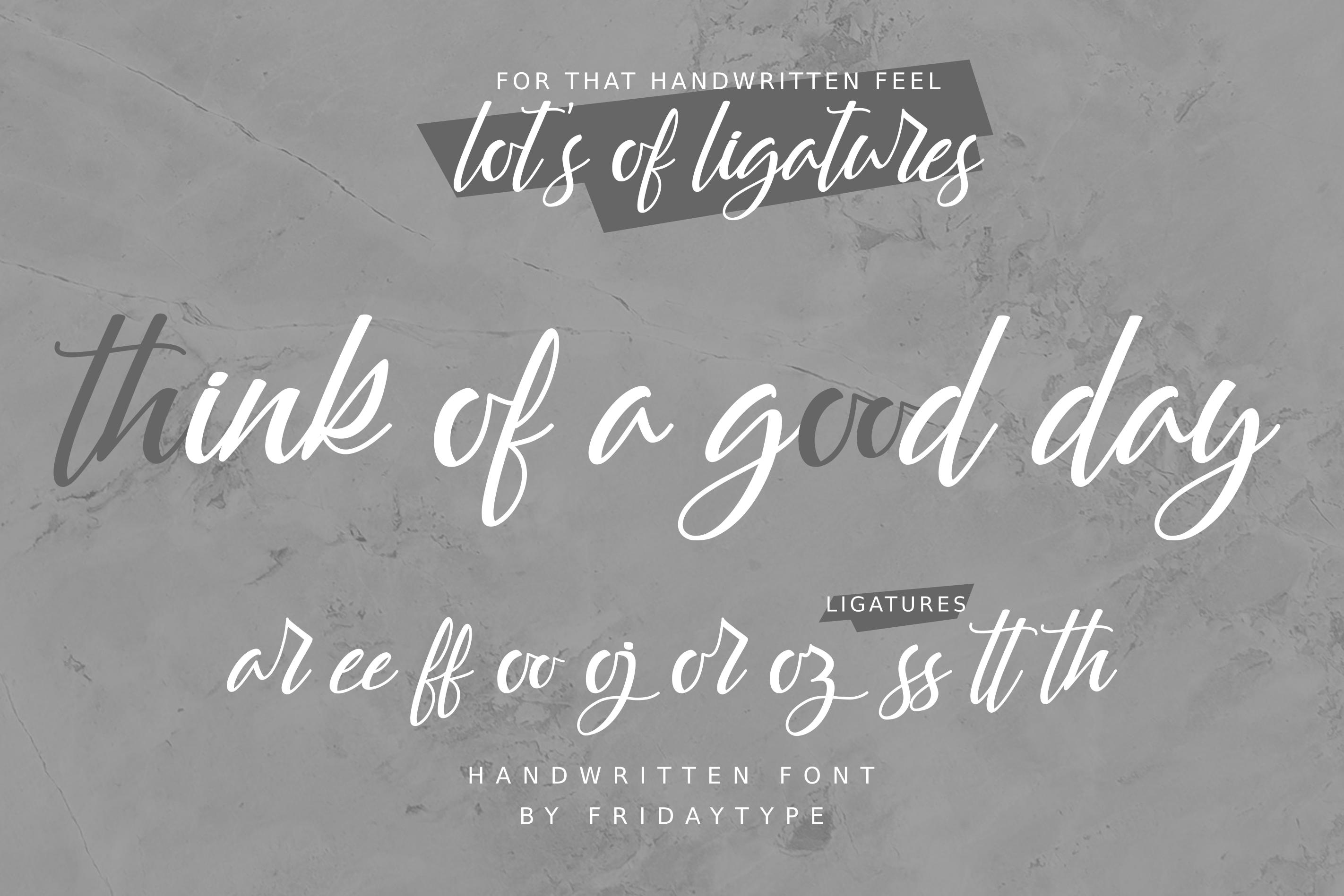 Yattie Handwritten Font example image 9