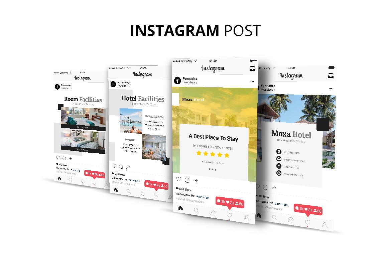 Moxa Hotel Social Media Kit example image 6
