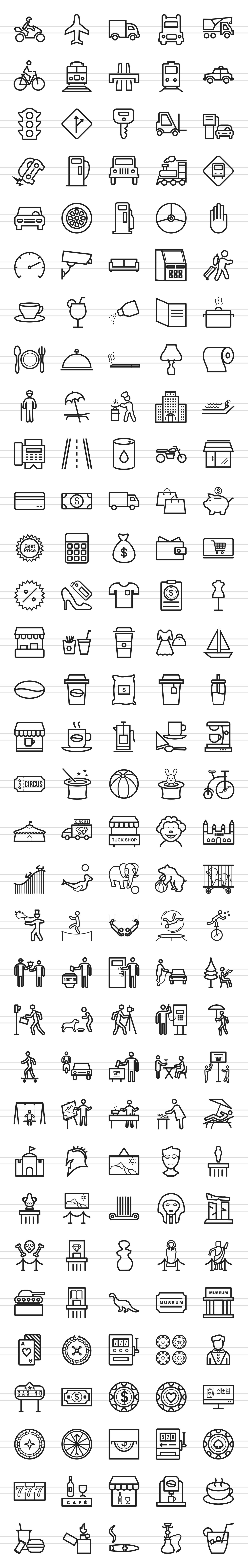 166 City Life Line Icons example image 2