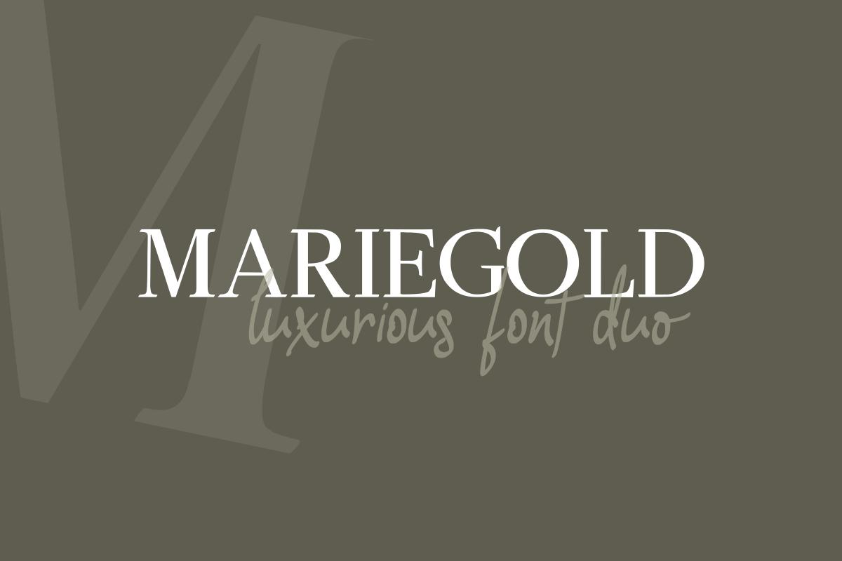 Mariegold Luxury Font Duo example image 1