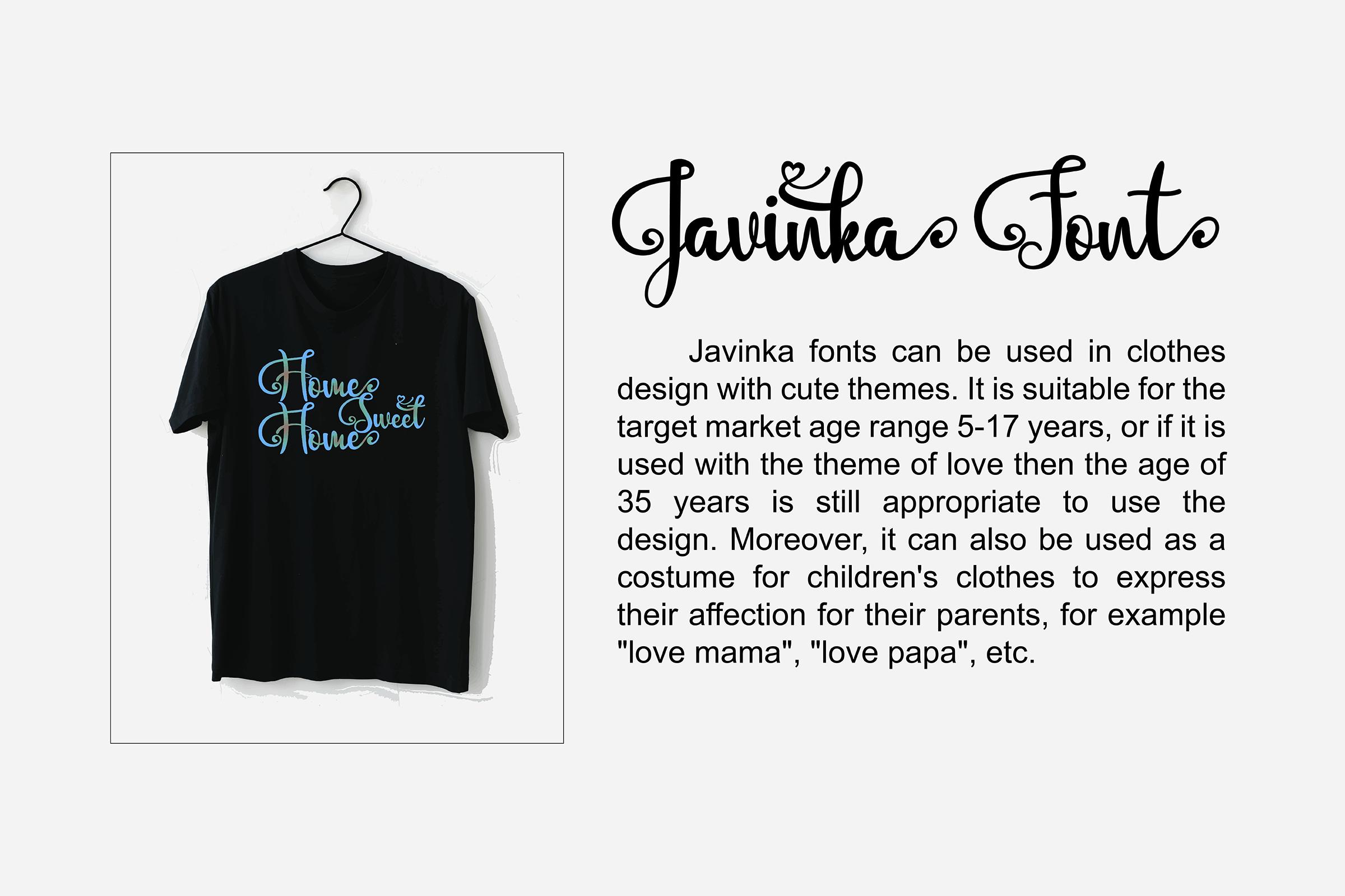 Javinka font example image 4