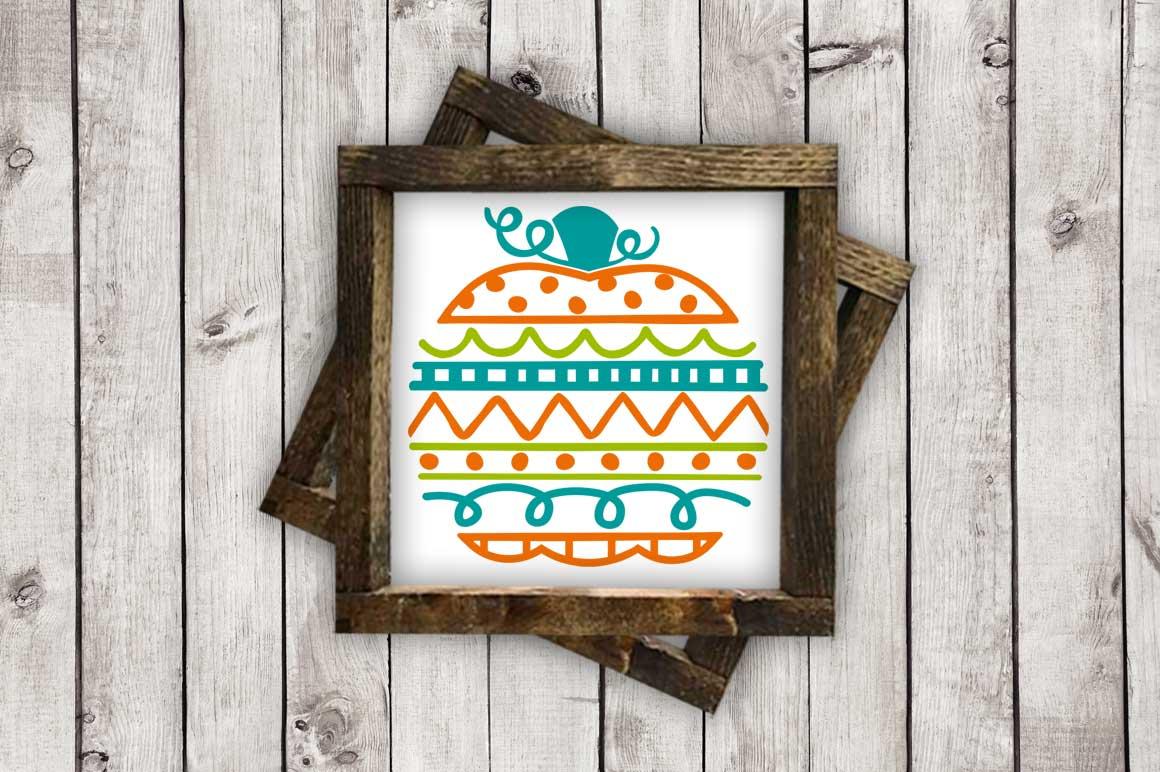 Doodle Pumpkin cut File - SVG DXF EPS AI PNG example image 2