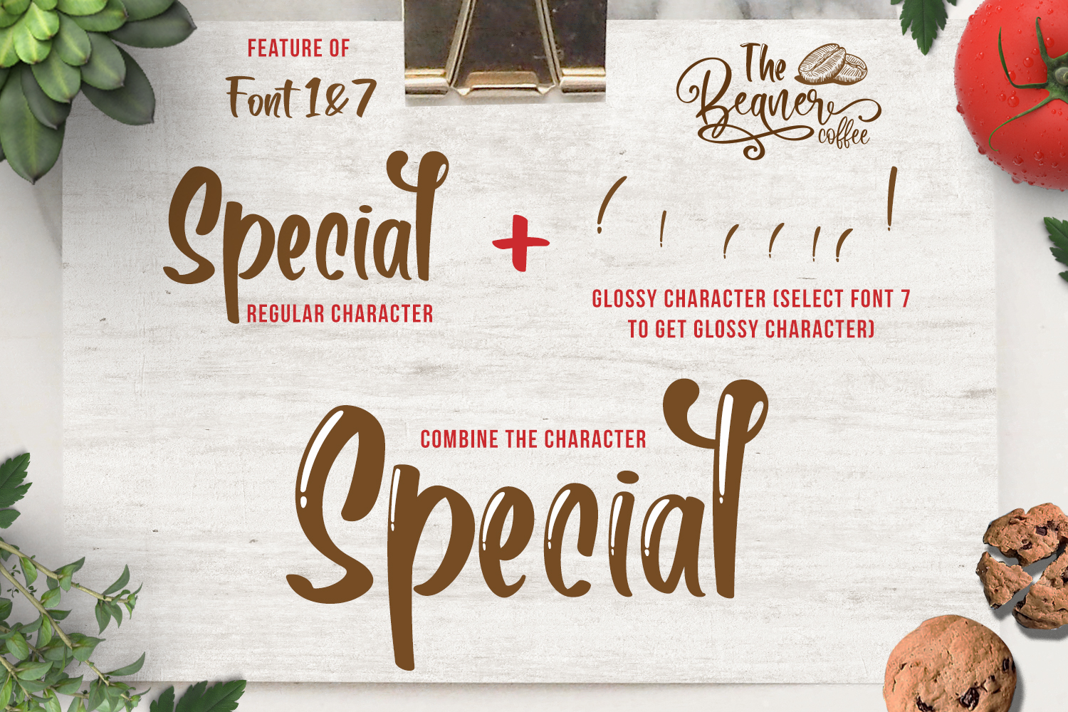 The Beaner - 5 Font & 41 Clipart example image 12