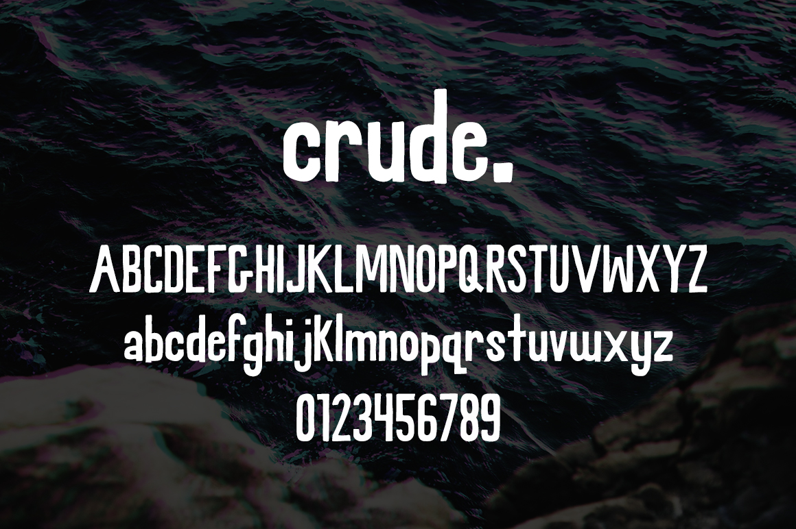 Crude - A Rough Hand Font example image 2