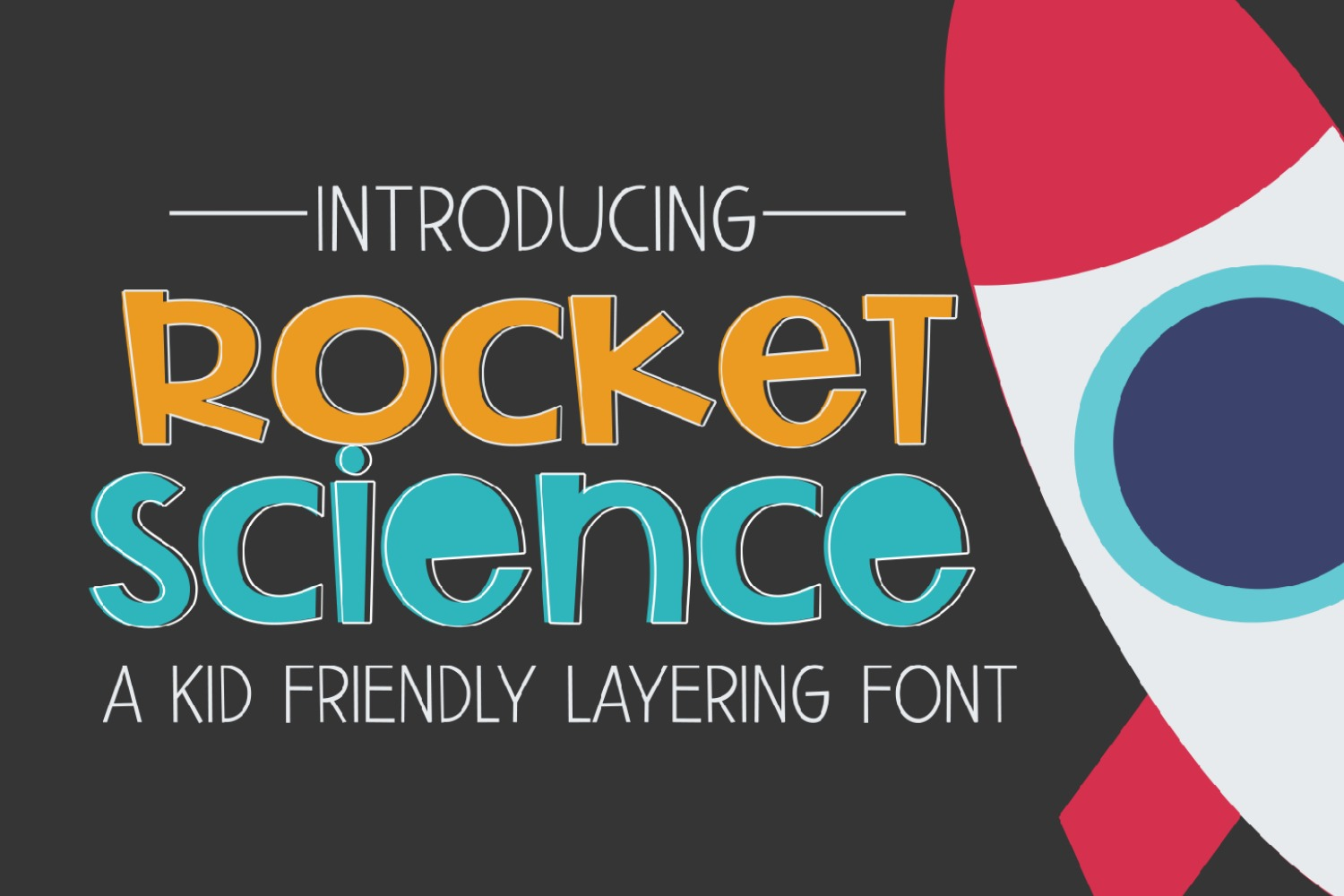 Rocket Science Layering Font example image 1