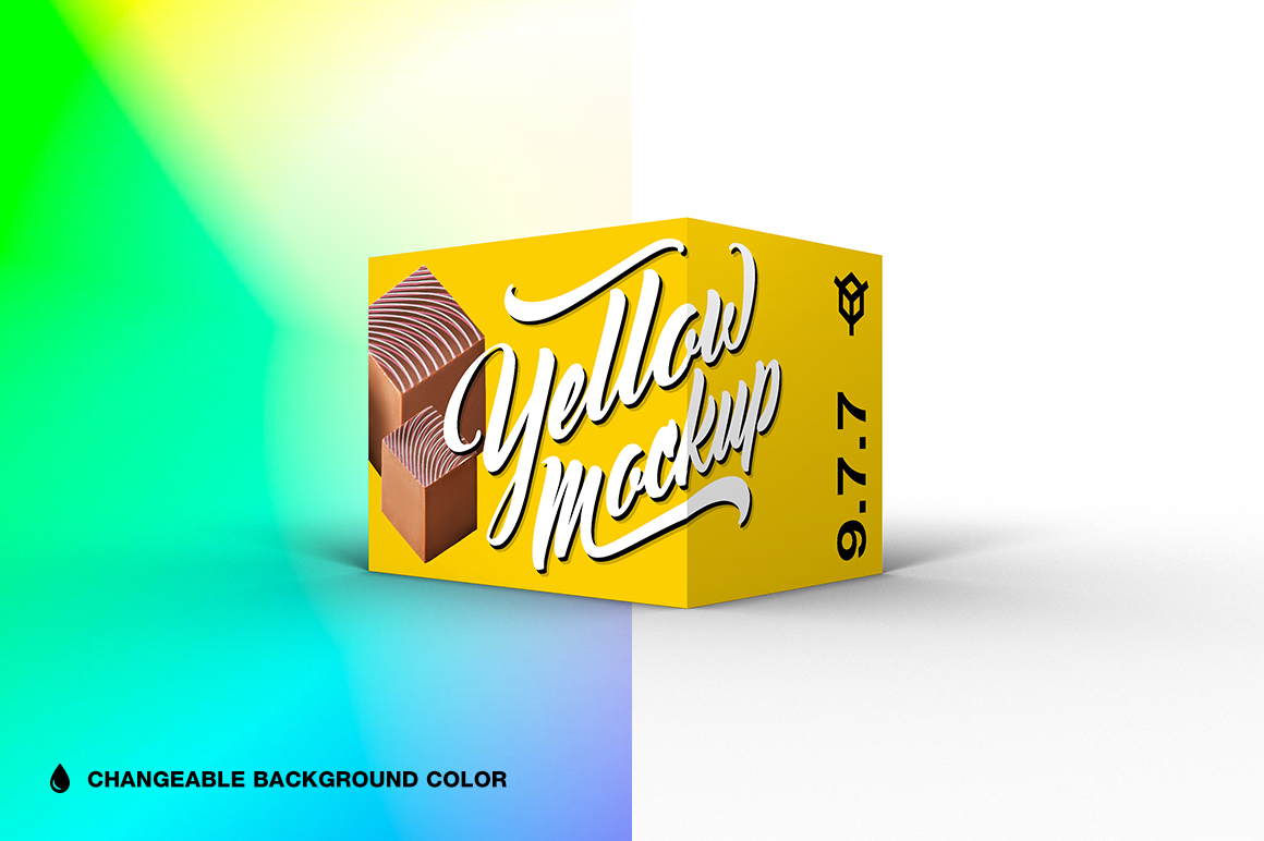 9.7.7 Simple 3D Box Mockup PSD example image 1