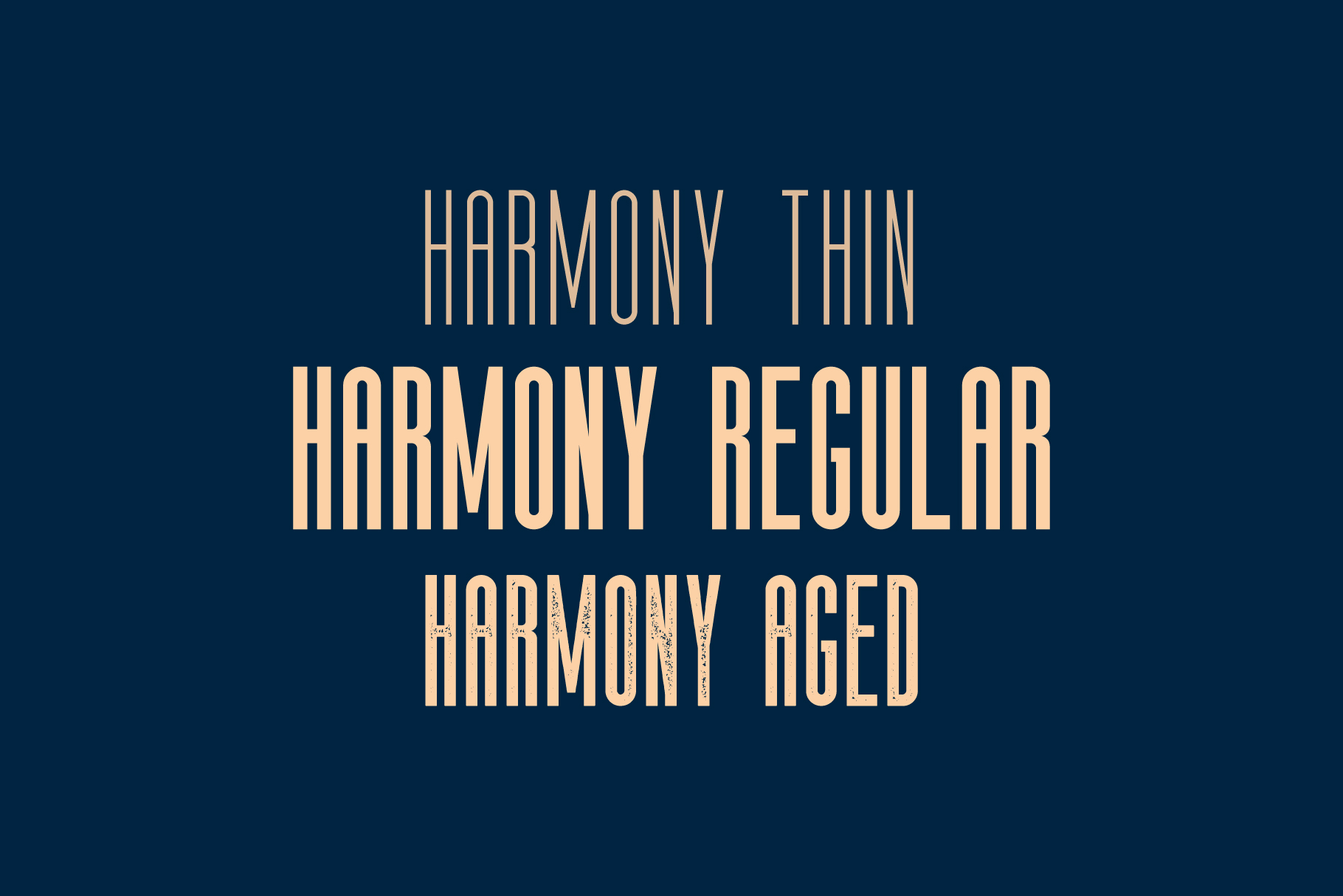 The Harmony - Condensed font family example image 2