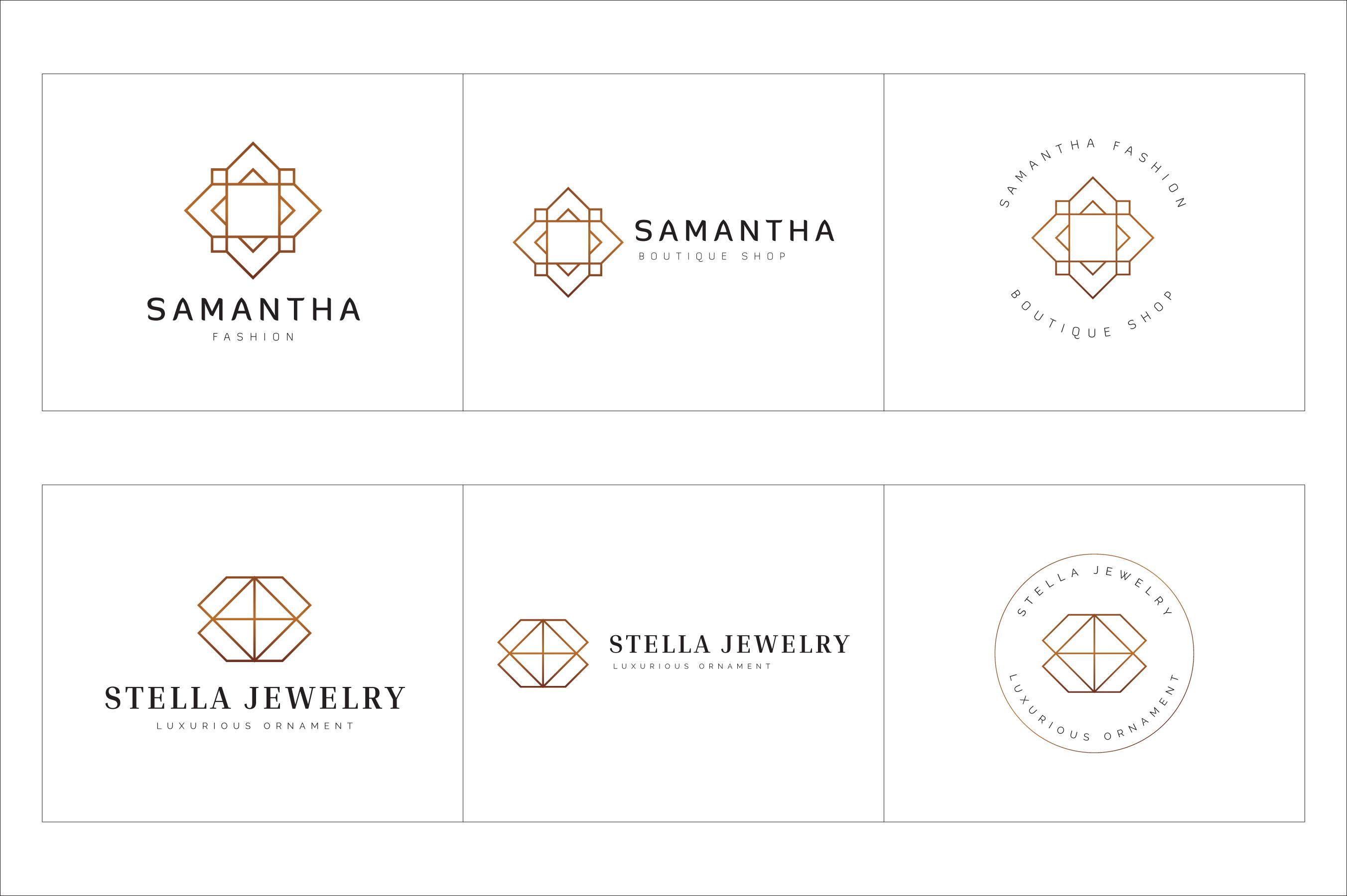 300 Geometric Premade Logo Bundle example image 16