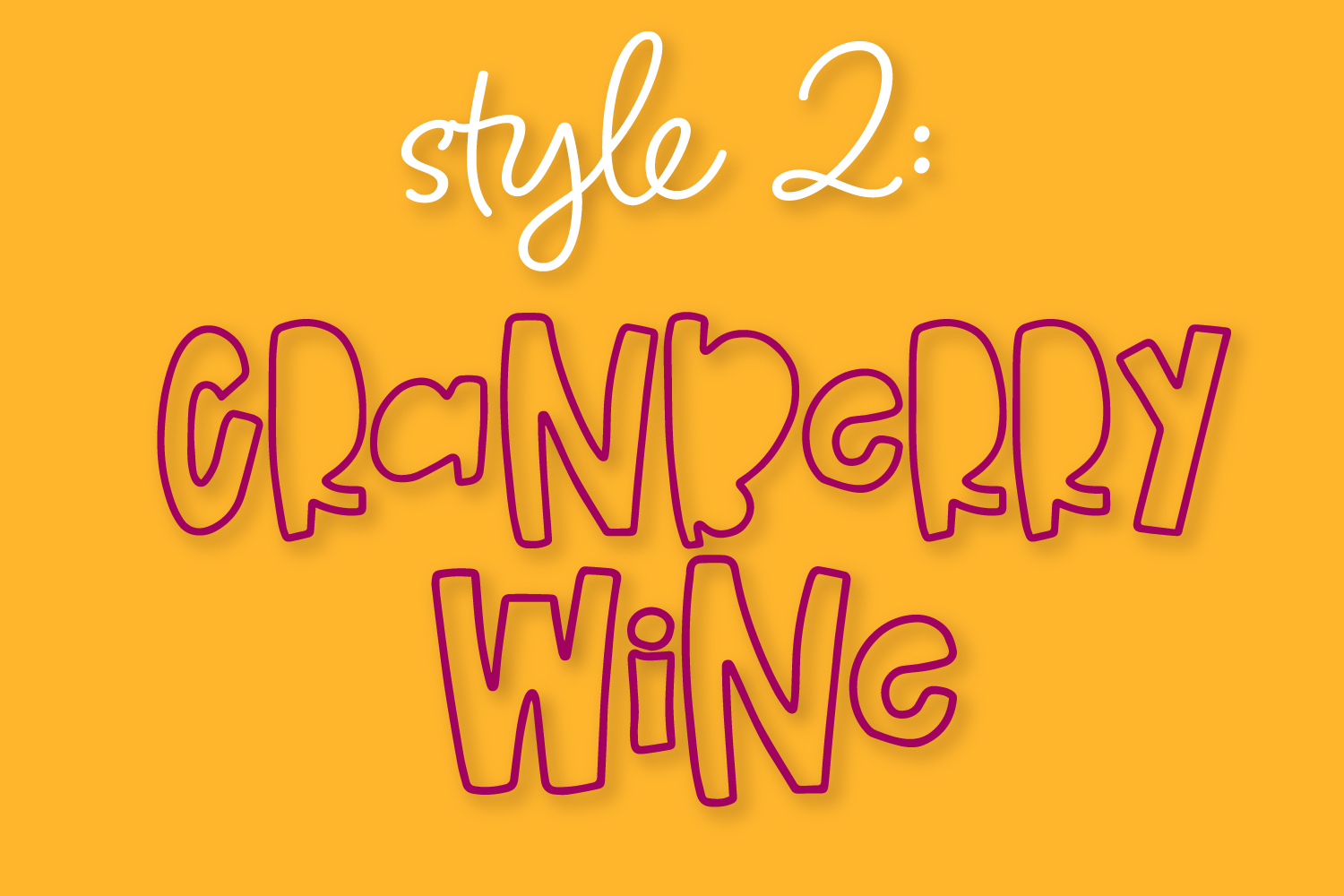 Cranberry Wine - A Striped Font Family of 6 New Fonts! example image 3