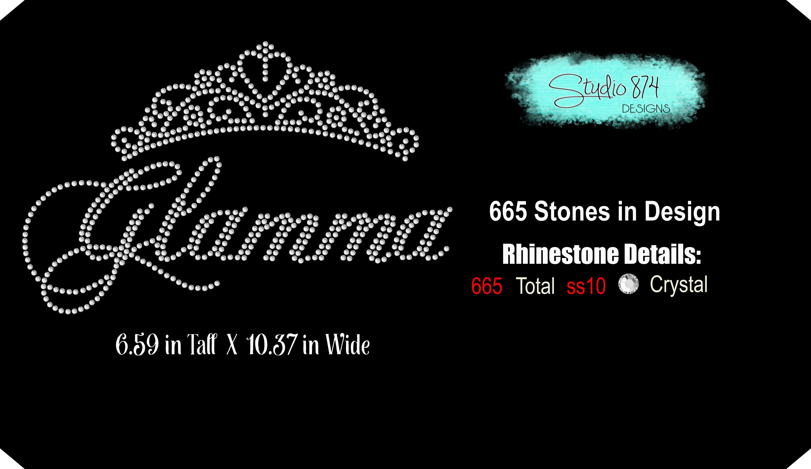 Glamma Rhinestone SVG Template R1 example image 3