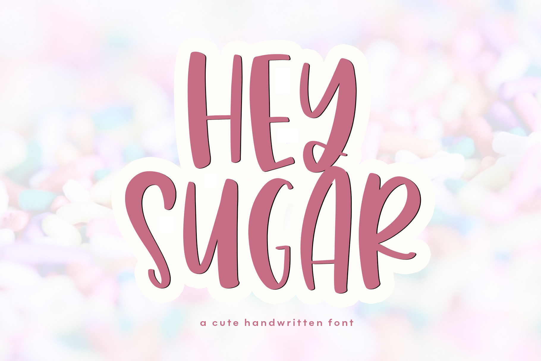 The Sweet Font Bundle - 14 Fun & Quirky Fonts example image 17