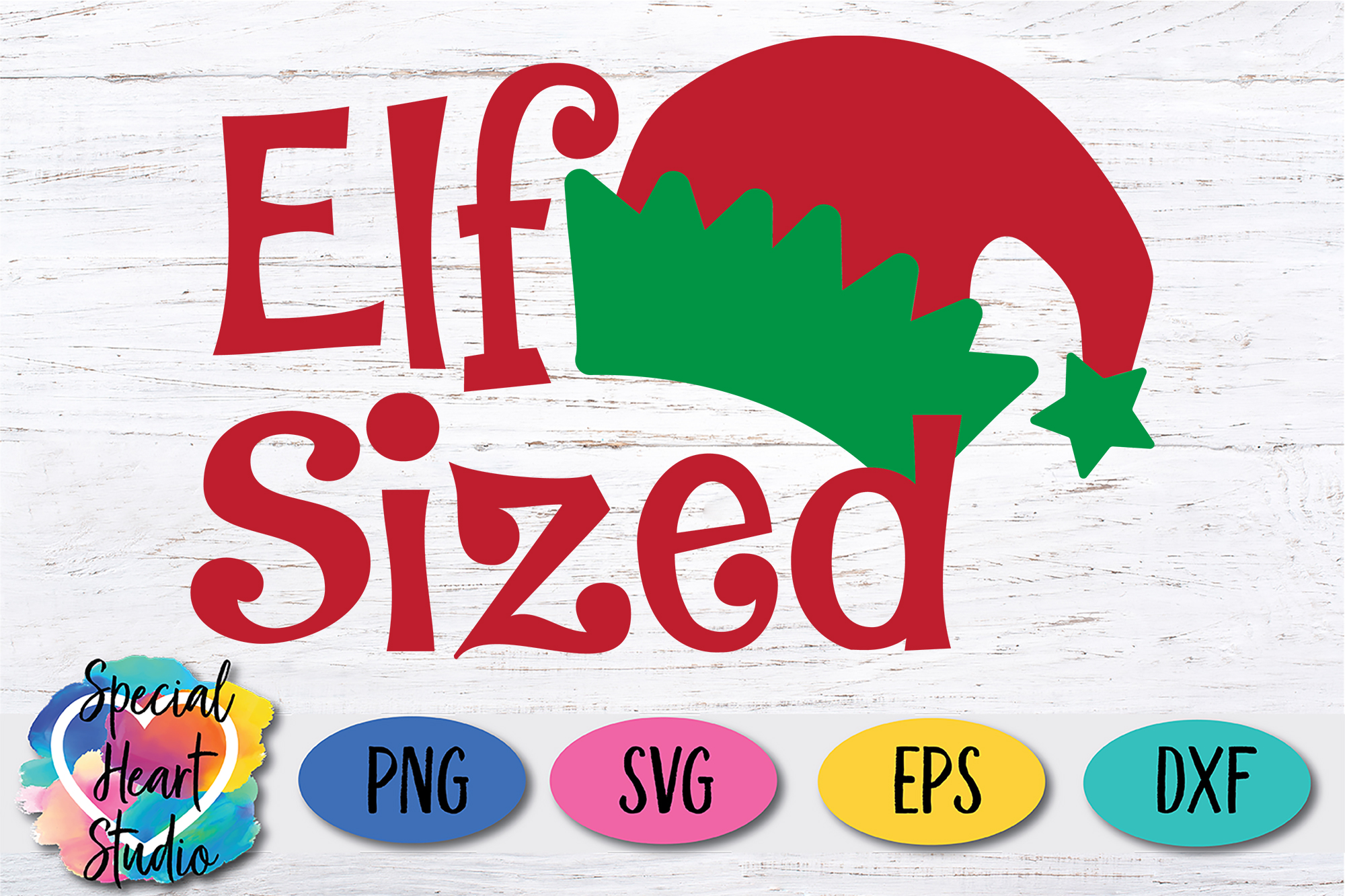 Elf Sized - A Fun Christmas SVG Cut File example image 2