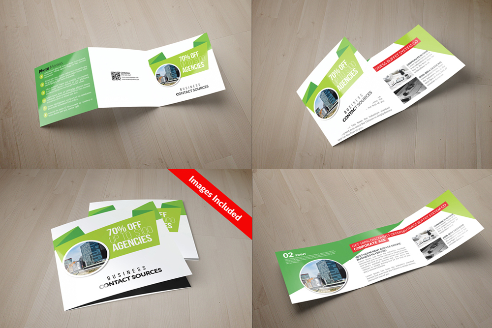 25 Square Trifold Business Brochures Bundle example image 16