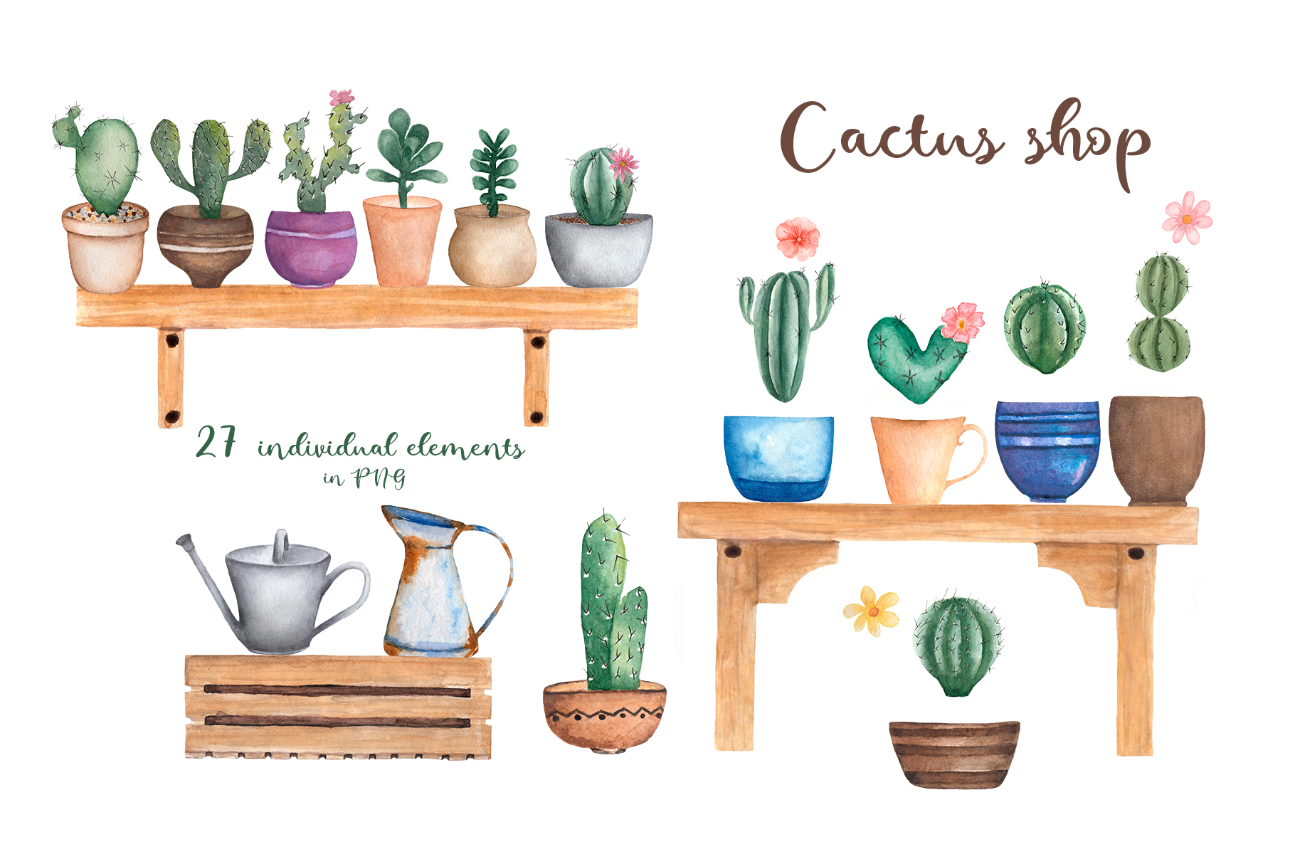Watercolor Cactus Shop example image 2
