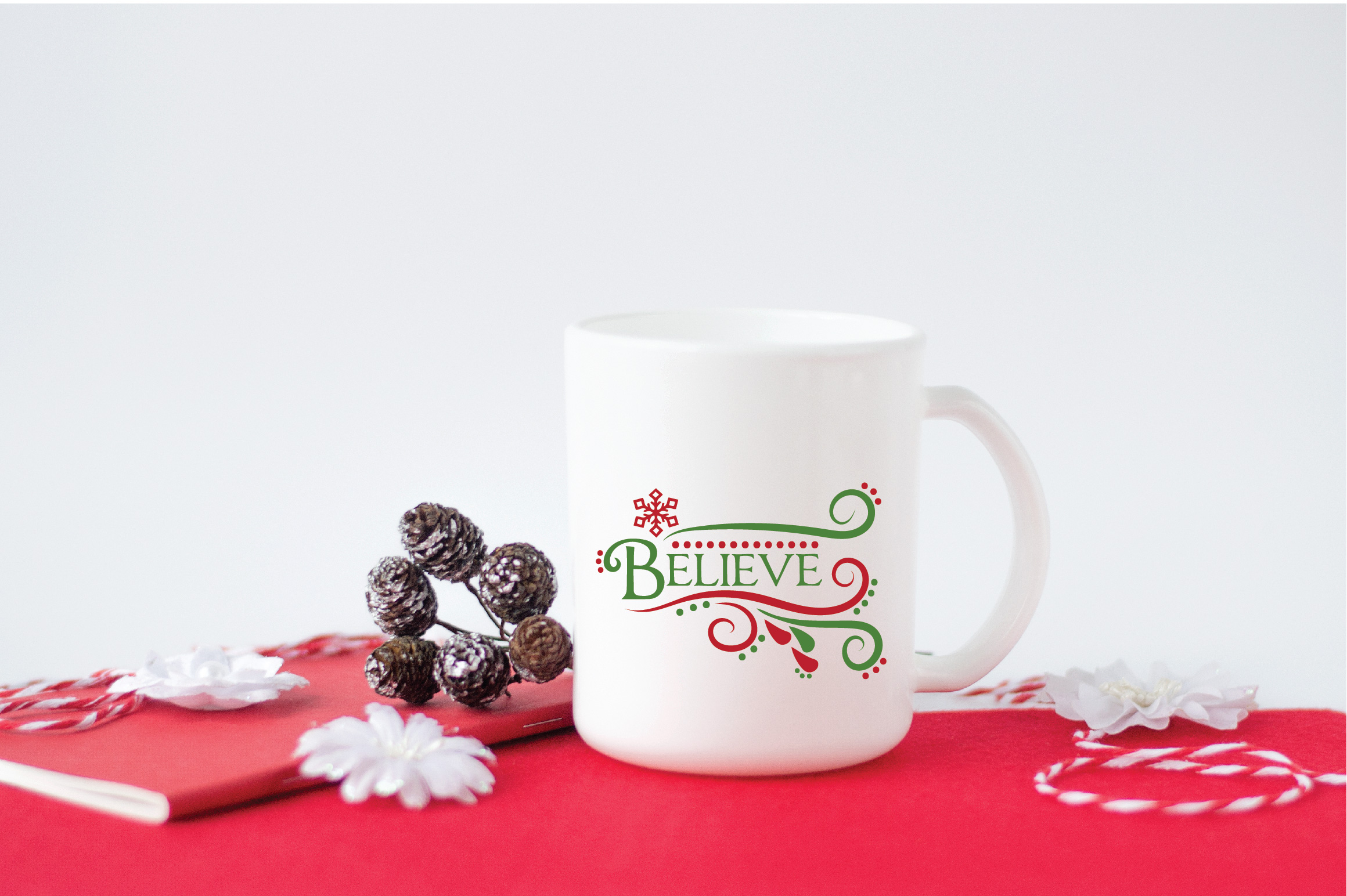 Believe SVG Cut File - Christmas SVG - DXF - PNG - EPS example image 4