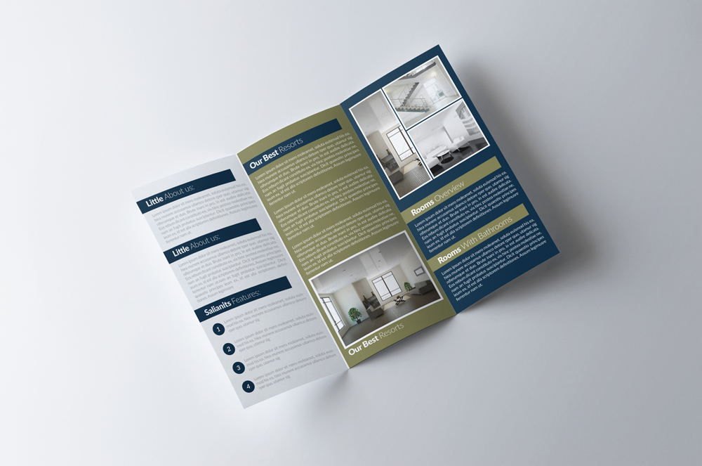 Real Estate Business Trifold Brochure example image 3