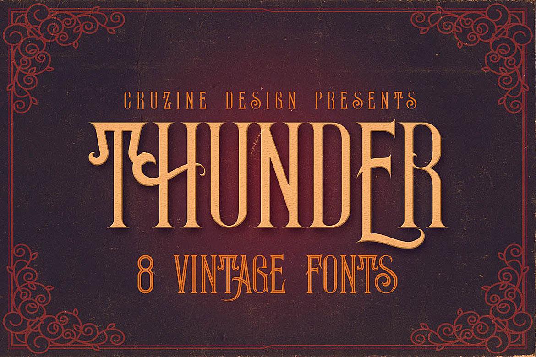 Thunder Typeface example image 1