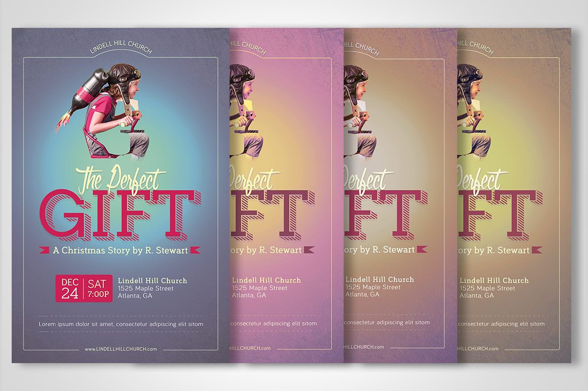 Perfect Gift Church Flyer Poster Template example image 6