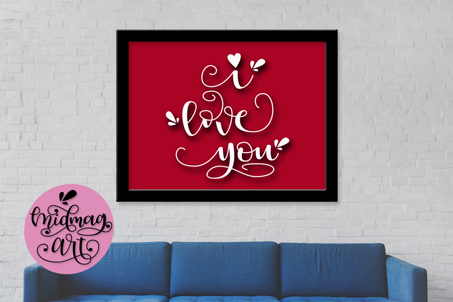 I love you svg, png, jpeg, eps and dxf example image 3