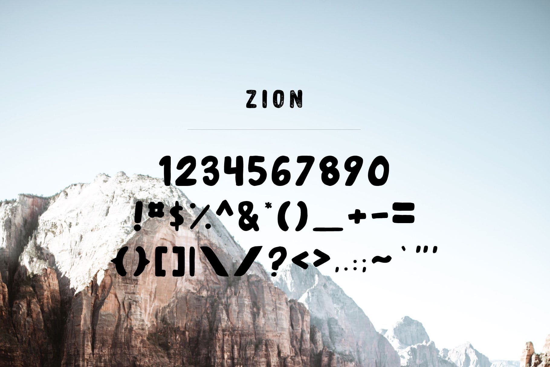 Zion | An Eroded Grunge Font example image 3