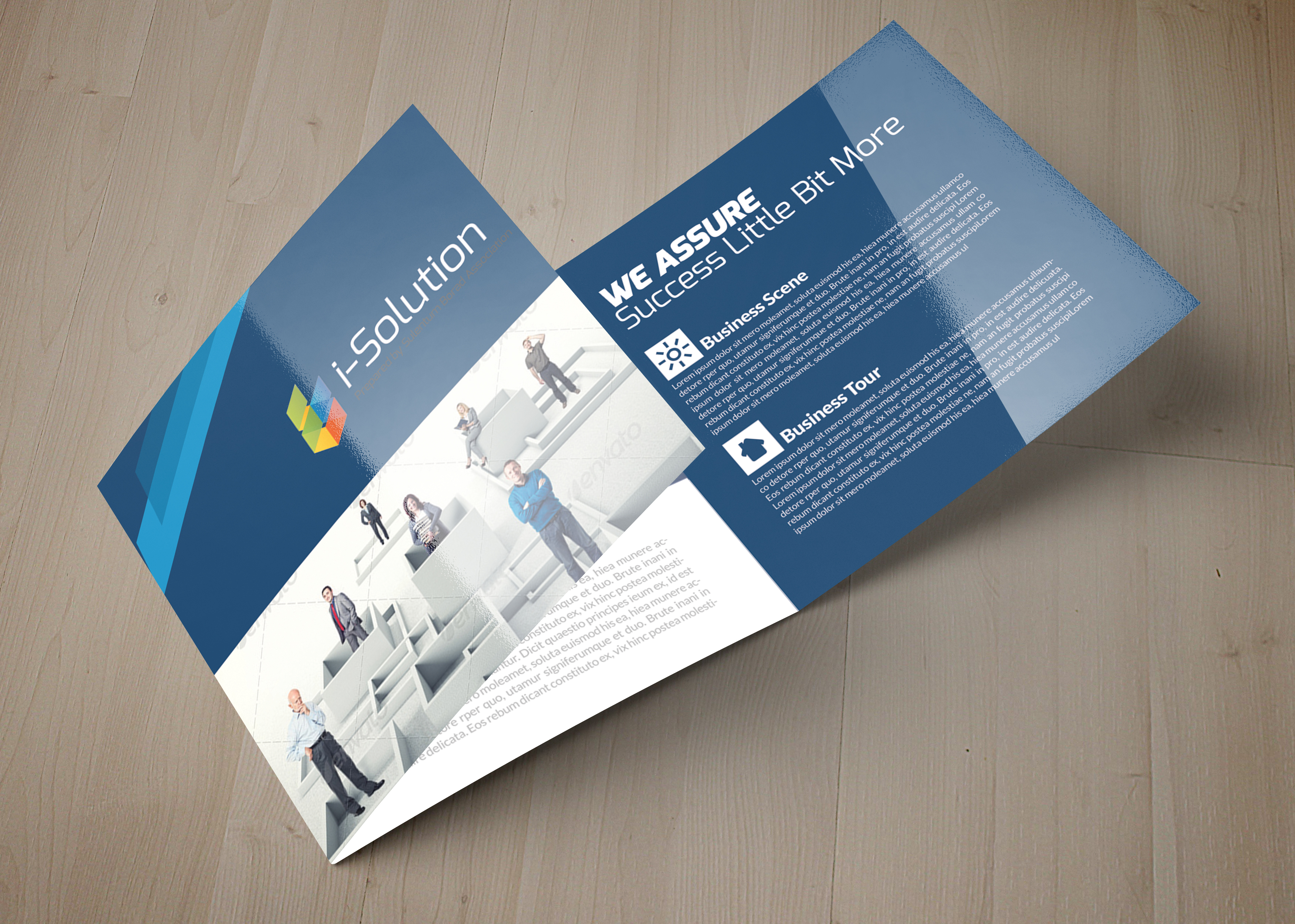 Professional Business Square Trifold Brochure example image 5