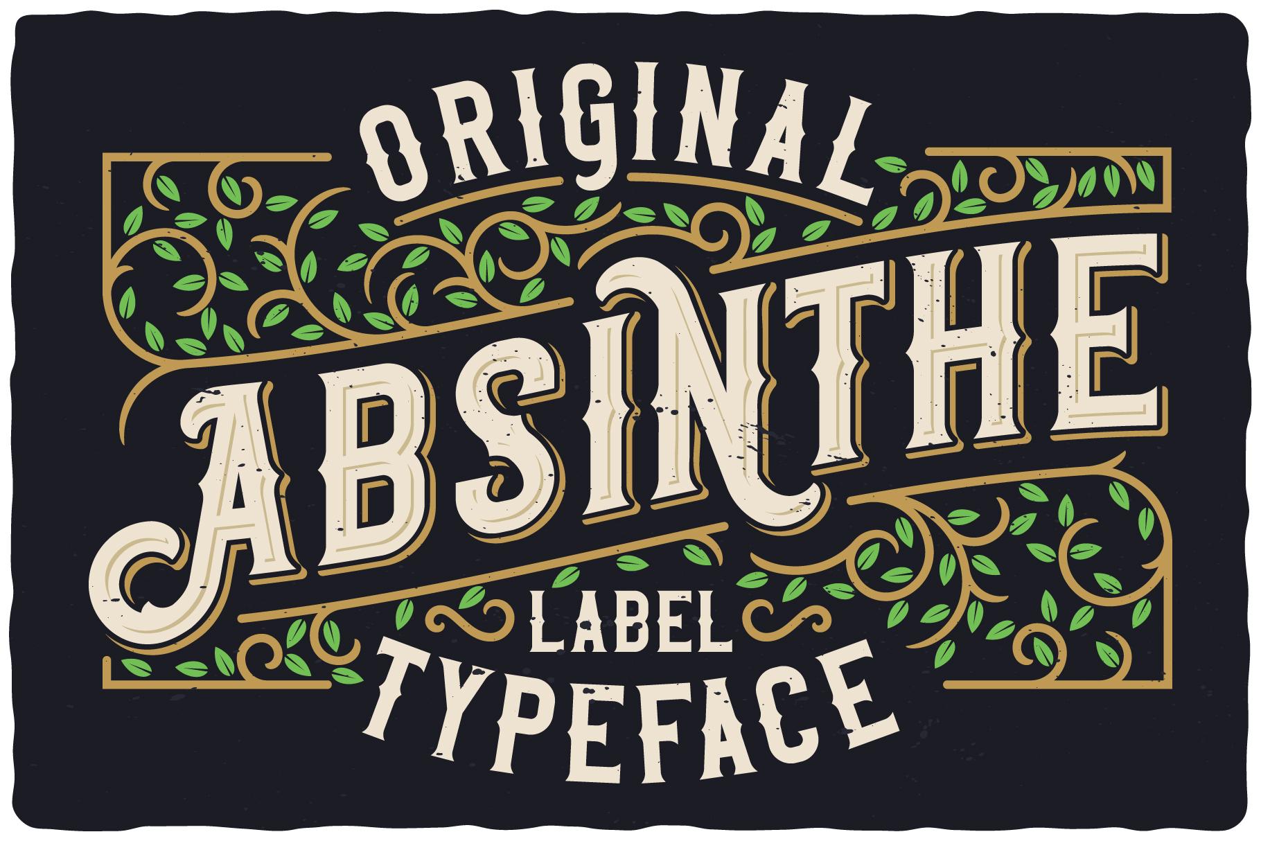 Original Absinthe Layered Font example image 3