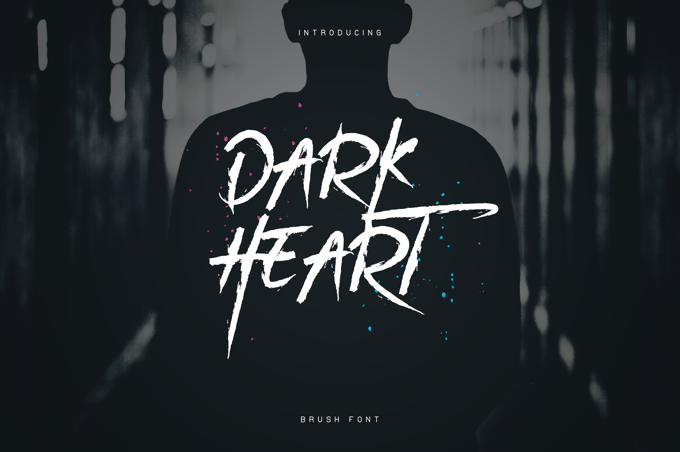 DarkHeart Brush font Extras example image 1