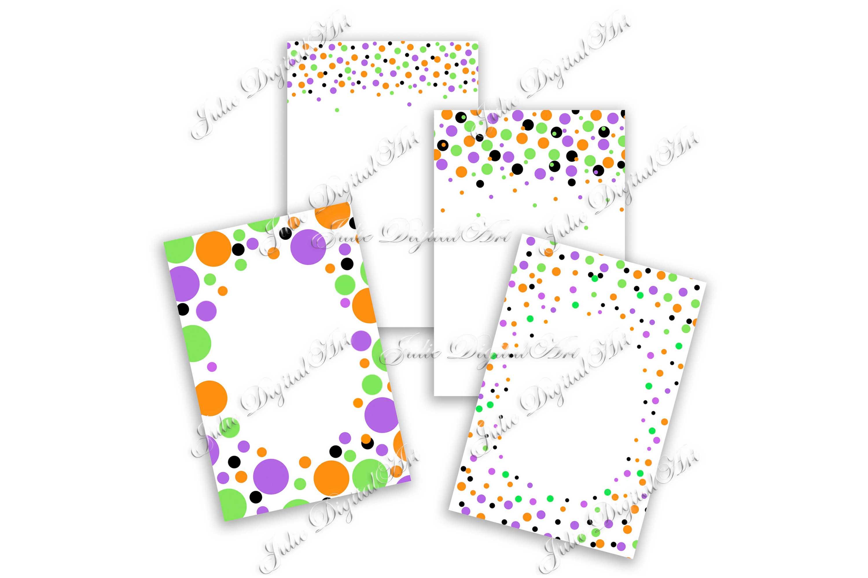 Confetti digital Black white digital paper 4 x 6 example image 3