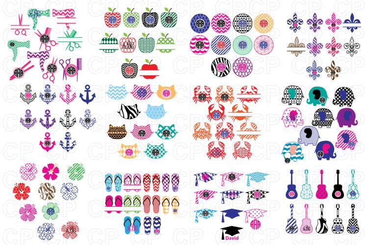 Shop Bundle, Bundle SVG, Monongram Bundle, Bundle Clipart example image 2