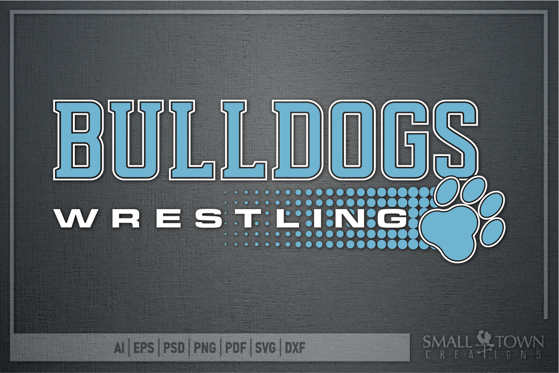 Bulldog, Wrestling, Team, Sports, Logo, PRINT, CUT & DESIGN example image 5